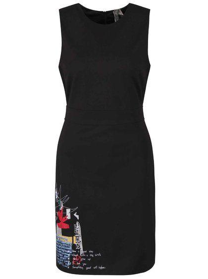 Rochie neagră fără mâneci Desigual Rosita