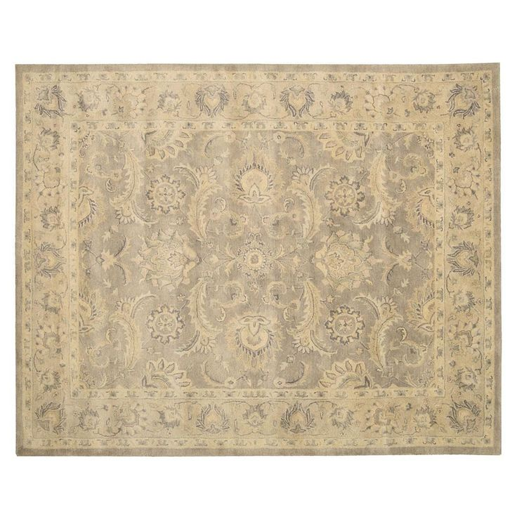 Nourison Jaipur Traditional Framed Floral Wool Rug, Beig/Green (Beig/Khaki)