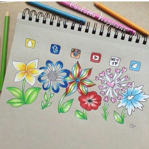 Social media flowers By @tottadraws _ #art#arts#artistsofinstagram#artist#artists#artistsoninstagram#draw#drawing#drawings#drawingoftheday#drawingsofinstagram#socialmedia#socialmediaarts#sketch#sketchbooks#sketcbook