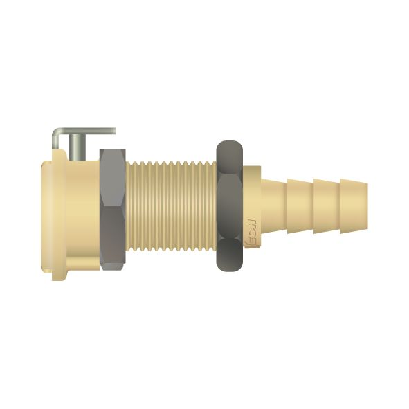 Mauld spring clip connector
