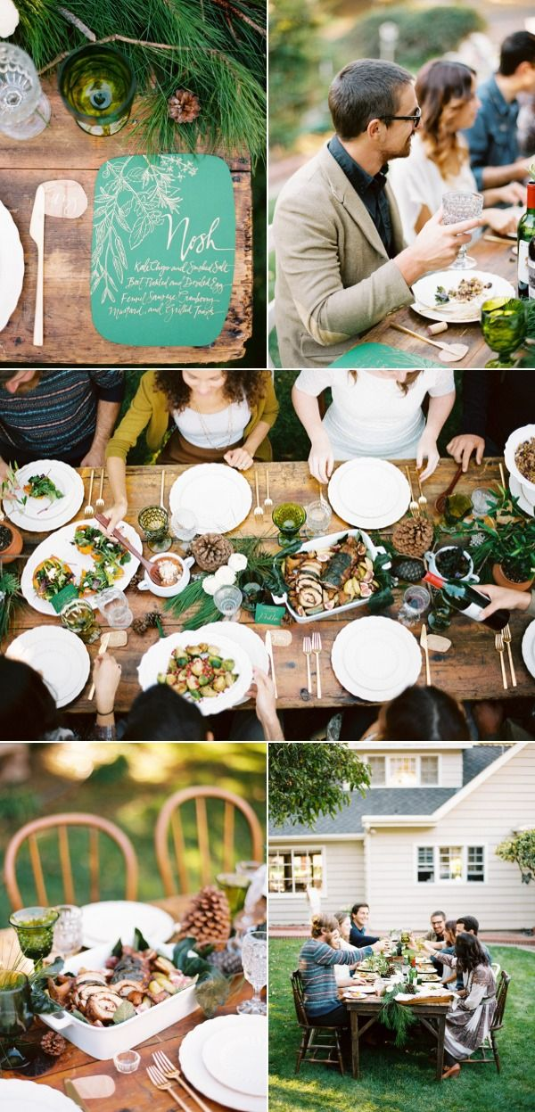 emerald and gold wedding invitation // via style me pretty