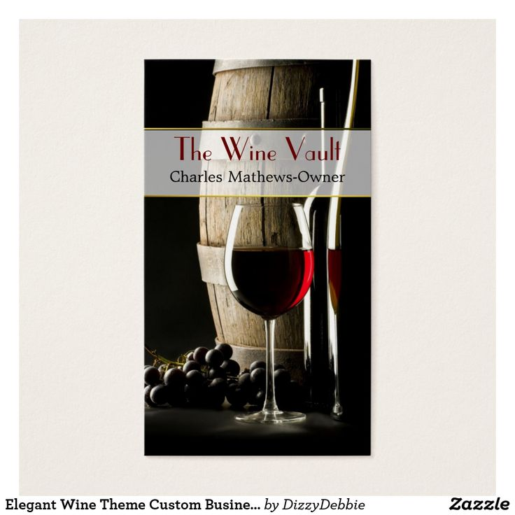 Elegant Wine Theme Custom Business Card Custom Check out more business card designs at http://www.zazzle.com/business_creations or at http://www.zazzle.com/businesscardscards