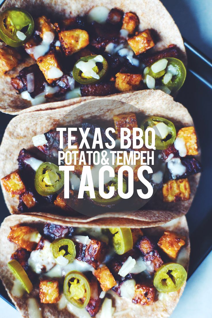 Texas BBQ Potato & Tempeh Tacos ||| Brewing Happiness