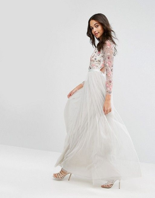Needle & Thread   Needle & Thread Ditsy Scatter Tulle Gown