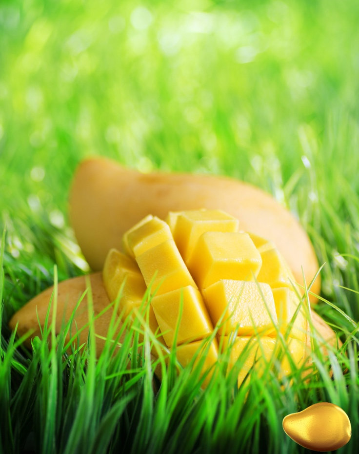 The sight of a freshly cut, just ripe Mango is  just dreamy.