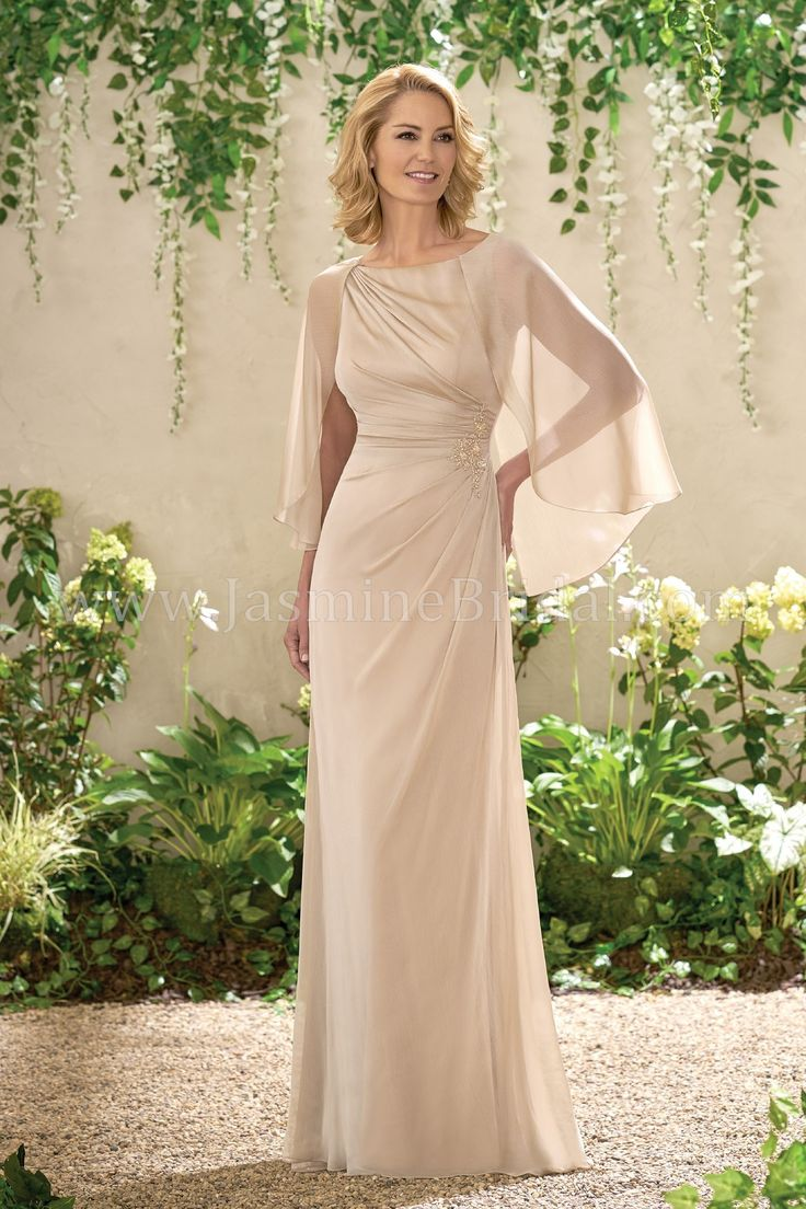 mother bride dresses jade jasmine groom gowns bridal spring cape designer chiffon formal jasminebridal evening tmdress boat occasions neckline does