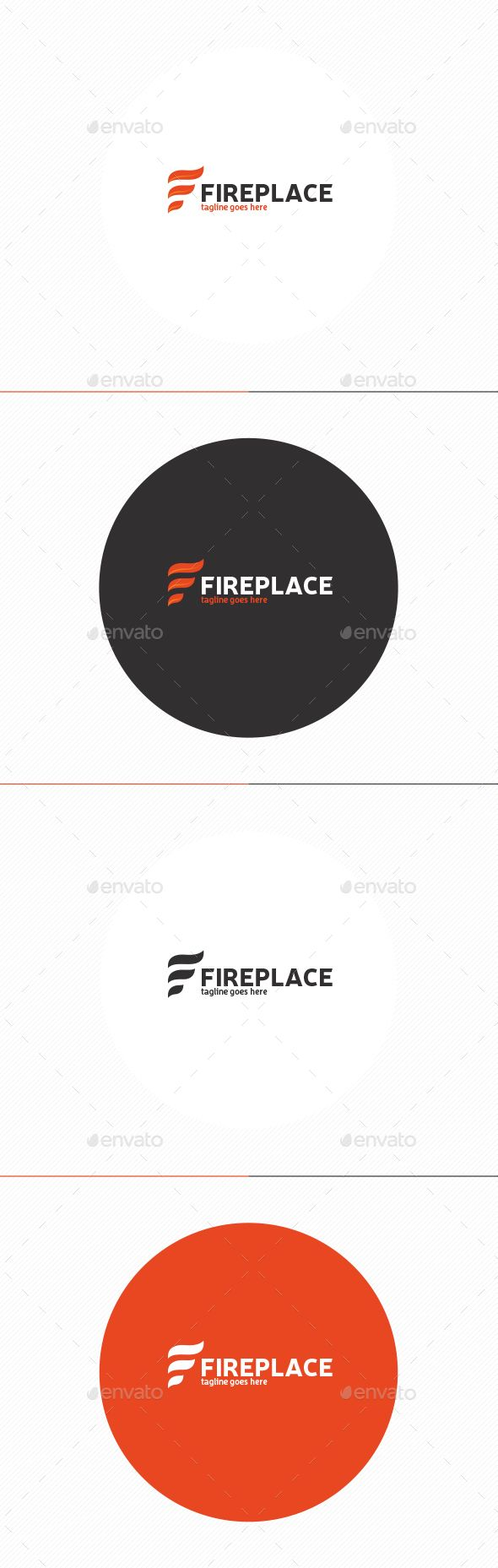 Fire Place Logo • Letter F — Photoshop PSD #place #office • Available here → https://graphicriver.net/item/fire-place-logo-letter-f/13566274?ref=pxcr