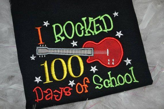 I rocked 100 days of school t-shirt