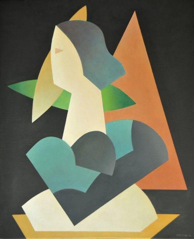 Justino Alves Figura Alegórica - 147)20 2012 Óleo x Tela 61 cm x 50 cm  #Art #Gallery #SãoMamede #JustinoAlves #Oil #Paintings #Color #Artwork