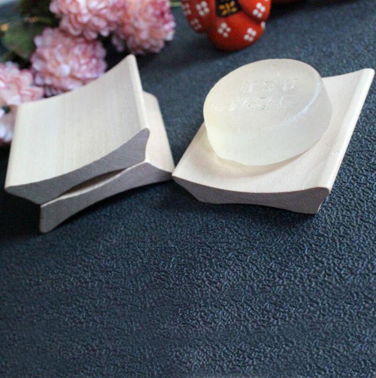 Green Smooth He Mu Small Tiles Shape Soap Box Wooden Soap Holder Handmade Soap Holder. FH-10229 #Affiliate