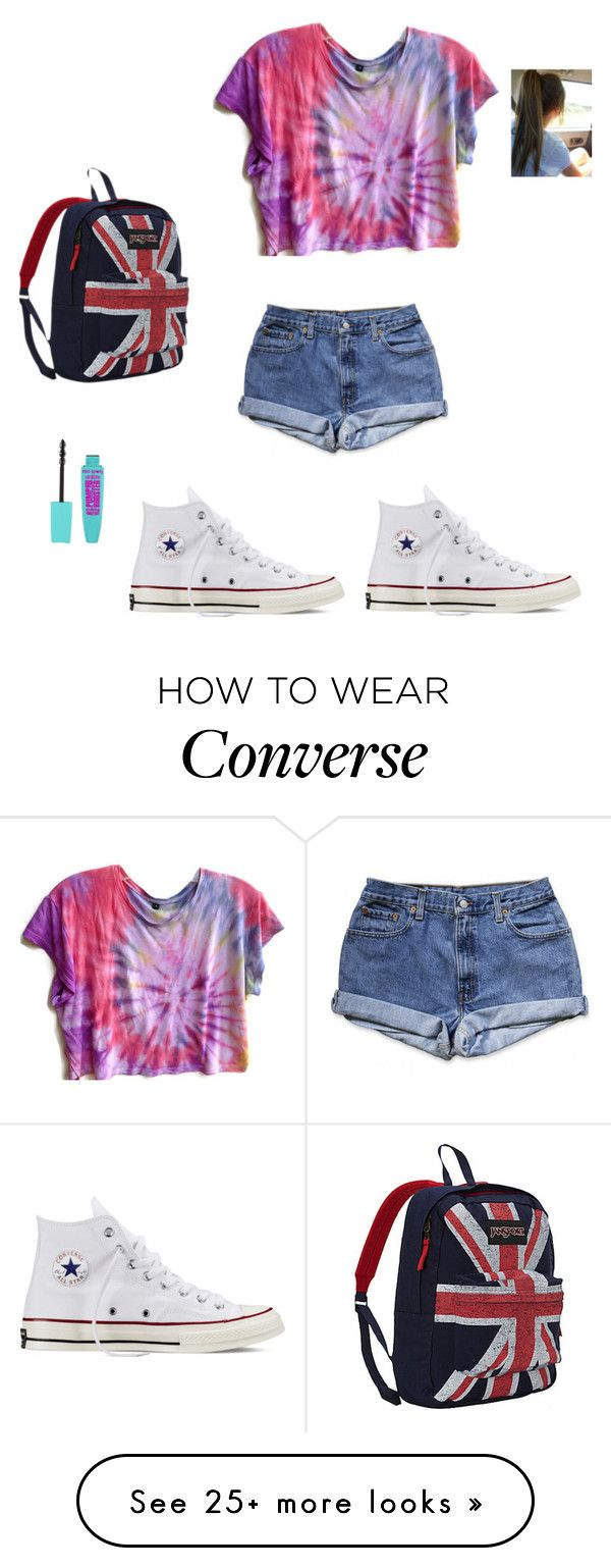 """""""School Day"""" by mashabest16 on Polyvore featuring JanSport and Converse"""