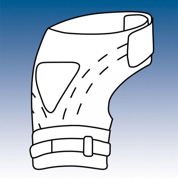 CINTURÓN DE SUJECIÓN PARA PRÓTESIS FEMORALES - REF: 5501 / 5502: Construido en neopreno de 5 mm., consta de cierre en cintura y cincha de fijación en el muslo.