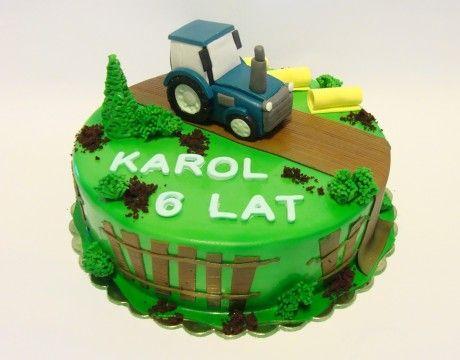 Torty Kraków Tort urodzinowy - Cukiernia Gateau Tort z traktorem #cake, #tort, #traktor, #urodziny, www.cukierniagateau.pl