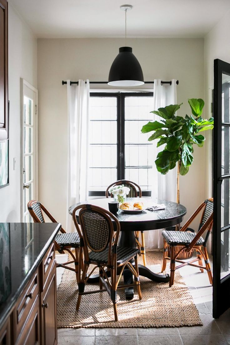 Modern cafe chairs and tables - Candace S Old World Home With Modern California Charm