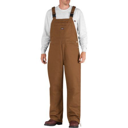 Genuine Dickies Big Men's Insulated Bib Overalls, Size: 2XL, Brown