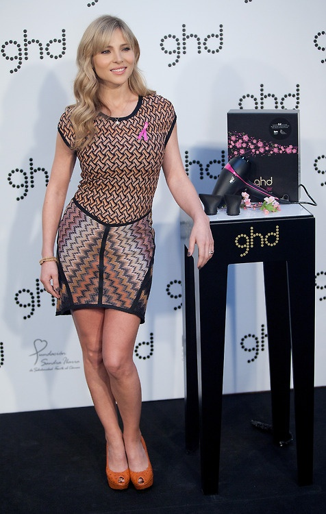 Elsa Pataky presents 'ghd' Pink Cherry Blossom charity limited edition at the Casino de Madrid on July 3, 2012 in Madrid