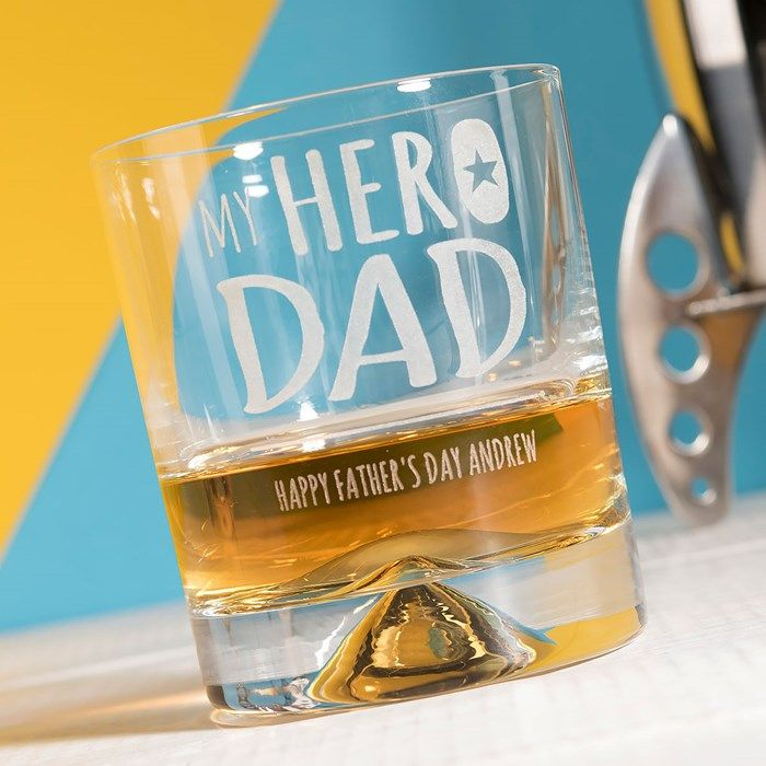 Personalised Whisky Tumbler - My Hero Dad | GettingPersonal.co.uk