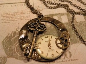 """""""Steampunk necklace"""" is what some hipster loser wrote...I'd say """"gorgeous antique style""""!"""