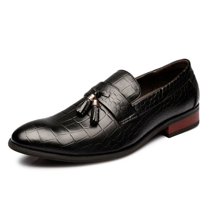 Black  Handmade ItalianLeather Dress Shoes/Loafer Shoes/ Office Shoes 43