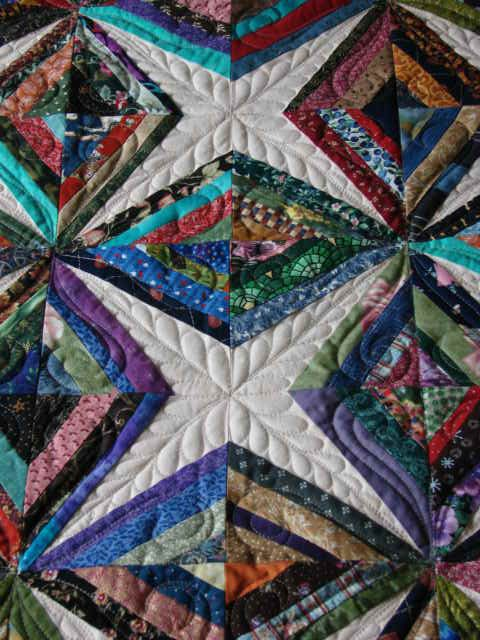This Is A Scrap Quilt Called Diamonds Are Forever It Was