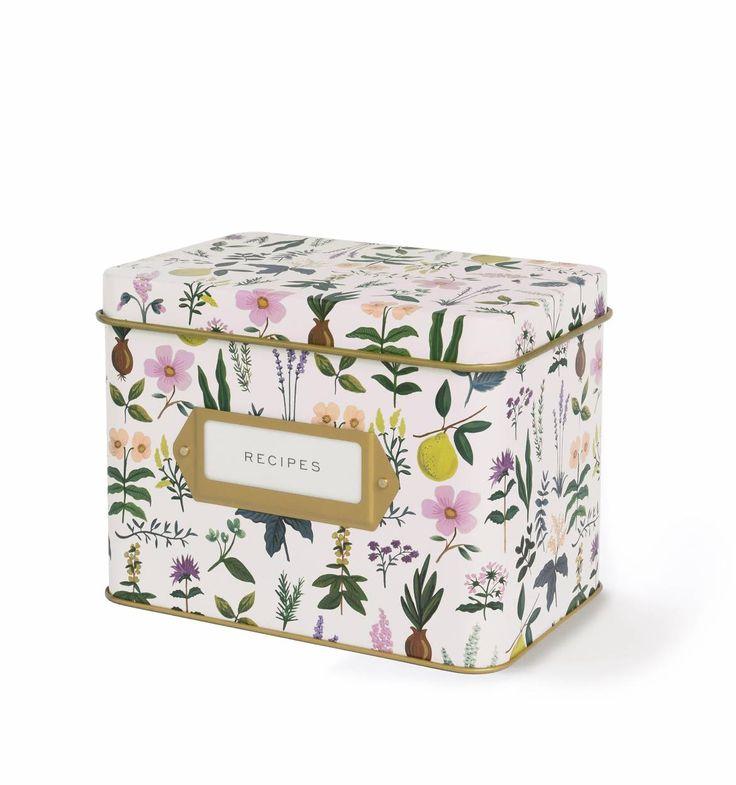 Herb Garden Recipe Box & Cards