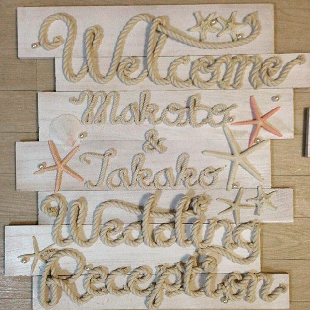 *TIE wedding* TAKAKO & MAKOTO INVITE YOU ENJOY TODAY! というあいうえお作文をのせて 招待状を発送したおふたり♡ tie...結ぶ。ロープ、縄。 海が大好き、パパはヨットを持つふたり。 両家の結びつきをロープで表現、、、♡ #playful #diy #welcomeboard #rope #tiewedding #freehand #takeandgiveneeds #oneheartwedding #party #summerwedding #結婚式 #ウェルカムボード #ウエディング #ウエディングアイデア #ウエディンググッズ #ウェルカムアイテム #海 #ヒトデ #ロープ #手作り #美男美女 #アーヴェリール迎賓館 #目指せ再生1万回 #エンドロール #weddingtbt #takeandgiveneeds http://youtu.be/Lm3VeGM0I_c
