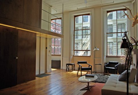 Deathly fear of open spaces #interiors #soho #loft