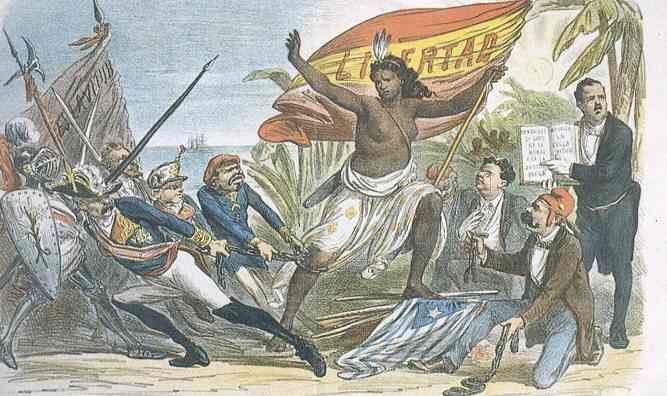 Una imagen de la Independencia de Cuba. 1873