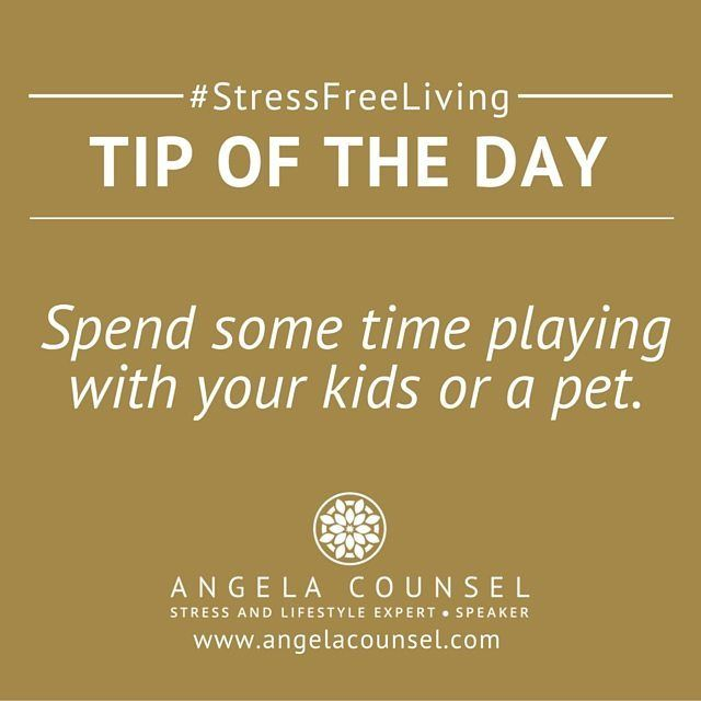 It can be very easy to get caught up in the constant hustle of business and family and forget to have some fun.  Research has shown that having contact with an animal will reduce your stress levels.  Playing with young children will have a similar impact on your stress levels.  Take some time out each week to play and have some fun. #stressfreeliving #secretmumsbusiness #angelacounsel
