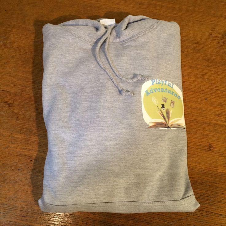 Custom printed hoodie with left breast logo print