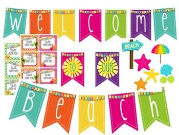 """Back to school """"Welcome to our Beach"""" Bulletin board!"""