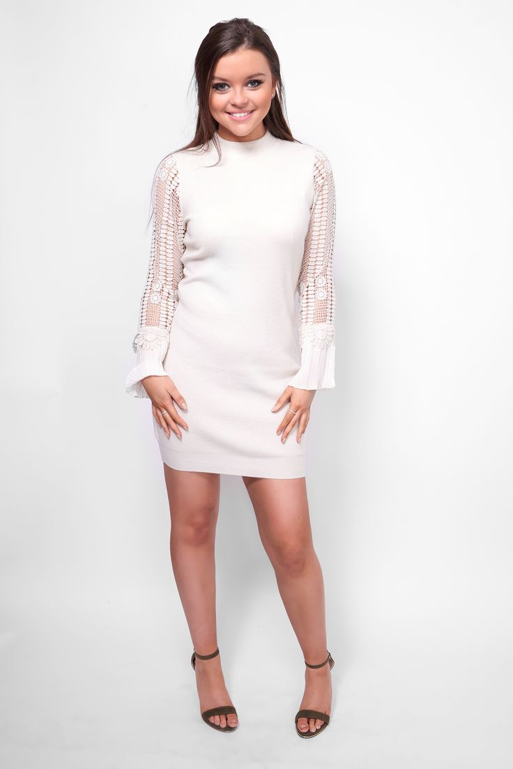 Party this weekend in style with one of our new gorgeous Lace sleeved dresses! Available in other colours!  #style
