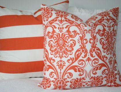 Orange Damask Cover, Warm up for winter!