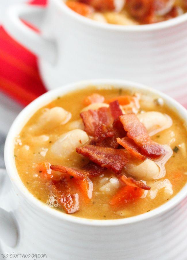 Creamy White Bean and Bacon Soup