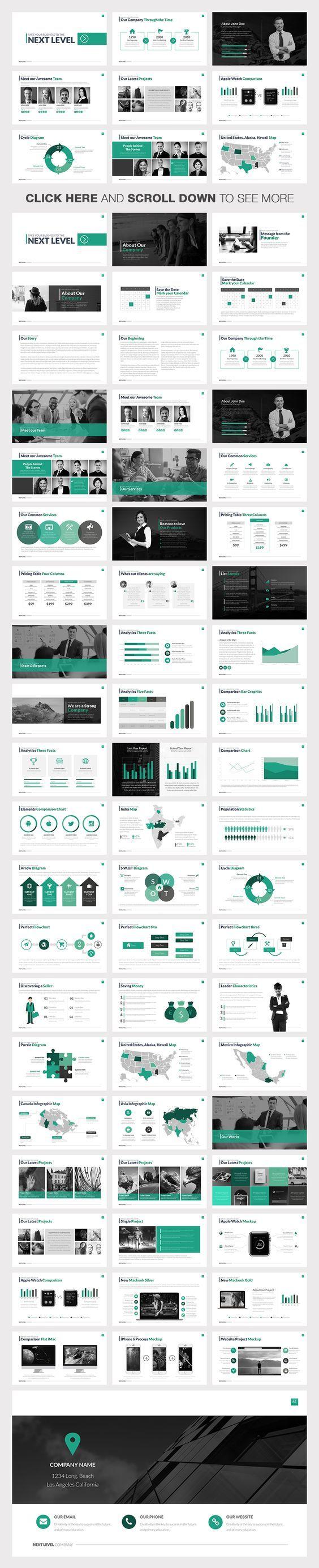 Next Level Powerpoint Template by Slidedizer on Creative Market: