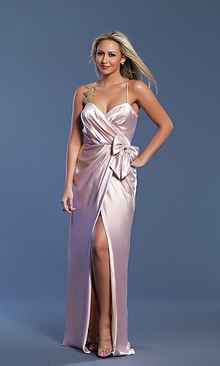 Prom Dresses with Bow Front