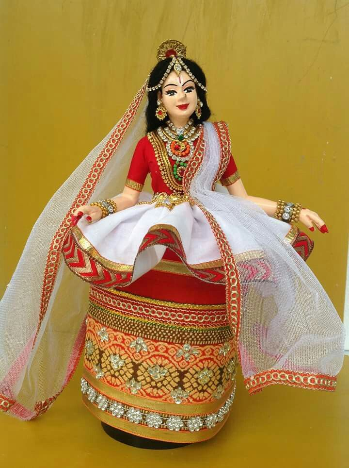 Indian hand made DOll,Bride of Manipuri....