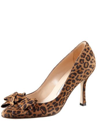 leopard print + lovely :: Manolo Blahnik