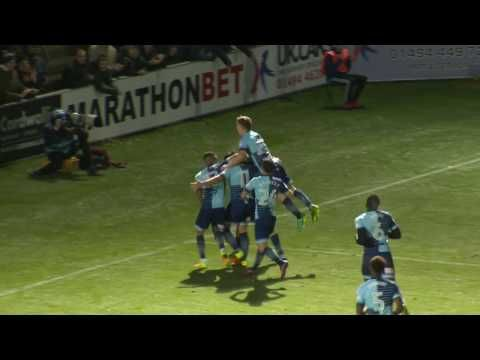 Wycombe Wanderers vs Newport County - http://www.footballreplay.net/football/2017/01/02/wycombe-wanderers-vs-newport-county/