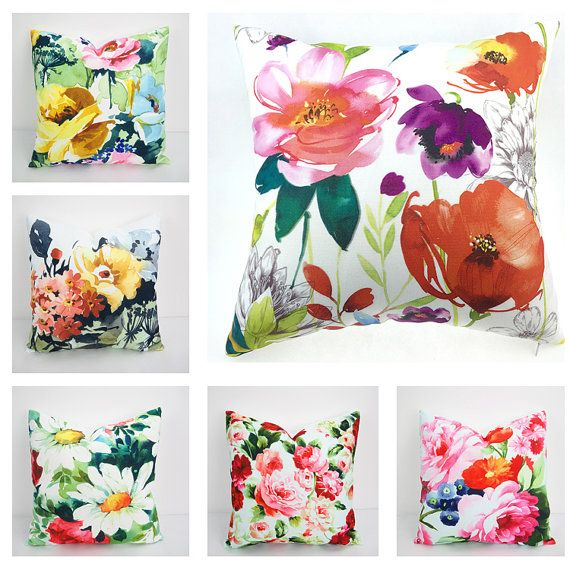 Pillows Pillow Covers Watercolor Floral Pillow by HomeDecorYi