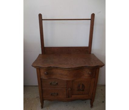 Antiuque Wash Cabinets Early Mid 1900 Antique Primitive Oak Wash Basin Stand Cabinet Vanity