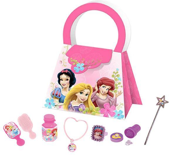 DISNEY PRINCESS PARTY BAGS:    • Disney Princess Brush   • Disney Princess Bubbles    Disney Princess Bracelet   • Disney Princess Ring  • Disney Princess Stamp   • Disney Princess Wand