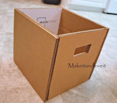 Caixa Organizadora de Papelão e Tecido Passo a Passo