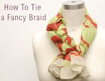 Several ways to tie a scarf, some with added bling!
