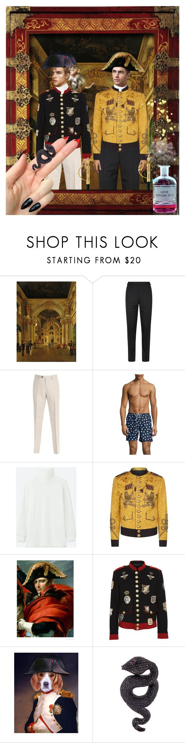 """""""The Heirs"""" by thymagine ❤ liked on Polyvore featuring Disney, Tom Ford, Brunello Cucinelli, Black Brown 1826, Uniqlo, Dolce&Gabbana, Mellerio, Lydia Courteille and Martha Stewart"""