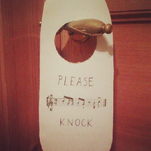 This is a good way to know who is at your door. You gotta knock the beat to get in!