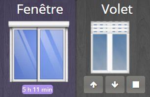 Combiner Volet et Fenêtre sur un Widget avec Jeedom