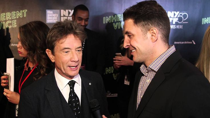 "Martin Short joins Arthur Kade at the world premiere of ""Inherent Vice"" featured in the 52nd New York Film Festival."