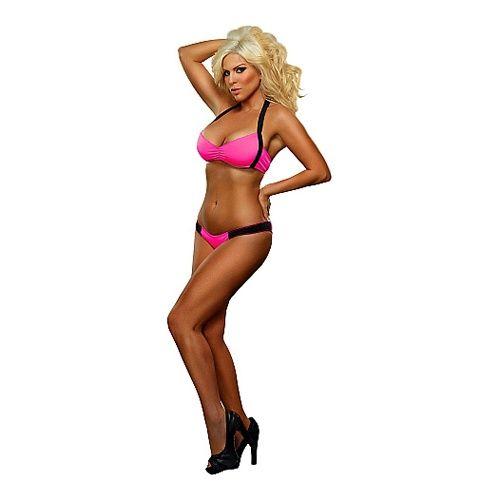 Neon roze bikini topje & broekje