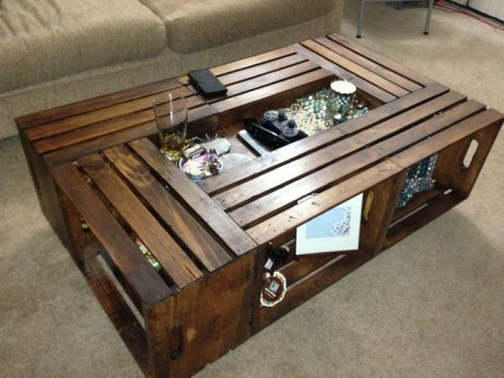 Best 25 Crate Coffee Tables Ideas On Pinterest Wooden Crates Into Coffee Table Wooden Crates